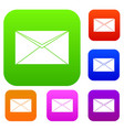 closed envelope set collection vector image