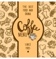 Coffee Menu Label vector image vector image