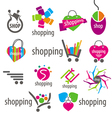 collection of logos and shopping discounts vector image
