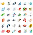 communication icons set isometric style vector image vector image
