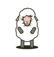 cute sheep mascot vector image