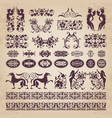 decorative calligraphic ornaments and elements vector image vector image