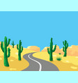 desert landscape and road vector image