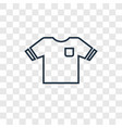 dress concept linear icon isolated on transparent vector image