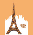 eiffel tower poster vector image