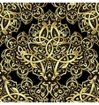 Ethnic seamless pattern in gold and black colors vector image vector image