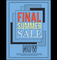 final summer sale banner for advertisement vector image vector image