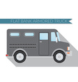 Flat design city Transportation bank armored Truck vector image vector image