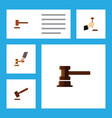 Flat icon lawyer set of government building law