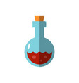 flat magic bottle potion vector image vector image