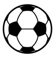 football icon simple black style vector image vector image