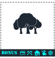 forest icon flat vector image vector image