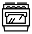 gas stove icon outline style vector image