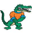gator logo mascot vector image vector image