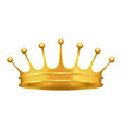golden crown with cross 3d icon realistic vector image