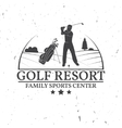 Golf club concept with golfer silhouette vector image vector image