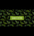 green leaves seamless pattern for your design vector image vector image