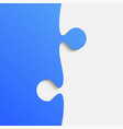 grey and blue piece puzzle jigsaw vector image vector image