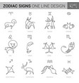 hand drawn zodiacal signs in ink style vector image