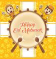 happy eid mubarak greeting vector image vector image