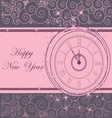 Happy New Year background with clock vector image vector image
