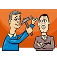hit the nail on the head cartoon vector image vector image