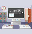 interior of chemistry classroom vector image vector image