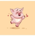isolated Emoji character cartoon Pig jumping for vector image vector image