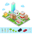 Isometric City Modern City District vector image vector image