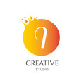 l letter logo design l icon colorful and modern vector image vector image