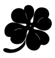 Leaf clover sign icon Saint Patrick symbol