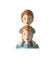 light color shading caricature half body young vector image vector image