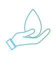 line water drop symbol to environment care in the vector image vector image