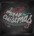 merry christmas chalk lettering design set vector image vector image