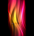 neon glowing wave magic energy and light motion vector image vector image