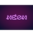 Neon Lettering vector image vector image