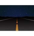 night road vector image