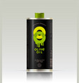 o double logo olive oil transparent packaging vector image vector image