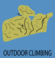 Outdoor climbing icon vector image