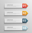 paper infographic7 vector image vector image
