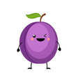 plum in flat style isolated vector image vector image