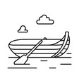 rowing boat line icon vector image