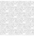 seamless background pattern of cooking kitchen ute vector image