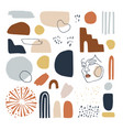 set hand drawn abstract geometric shapes vector image