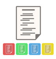 set of document icon buttons on white stock vector image vector image