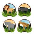 set of wild african animals vector image