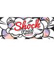 Shock Price Sale 6250x2500 pixel Banner vector image vector image