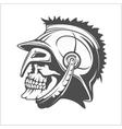 Skull Roman legionary - skull in helmet vector image vector image