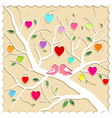 Springtime Love Tree and Birds vector image
