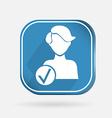 square icon add friend vector image vector image